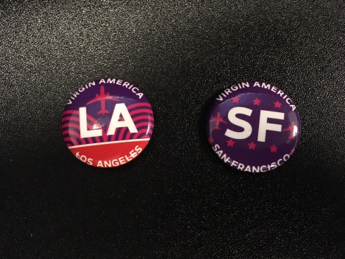 Virgin America Pins